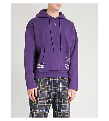OFF-WHITE C/O VIRGIL ABLOH Birmingham cotton-jersey hoody (Violet