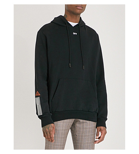 OFF-WHITE C/O VIRGIL ABLOH Tape cotton-jersey hoody (Black