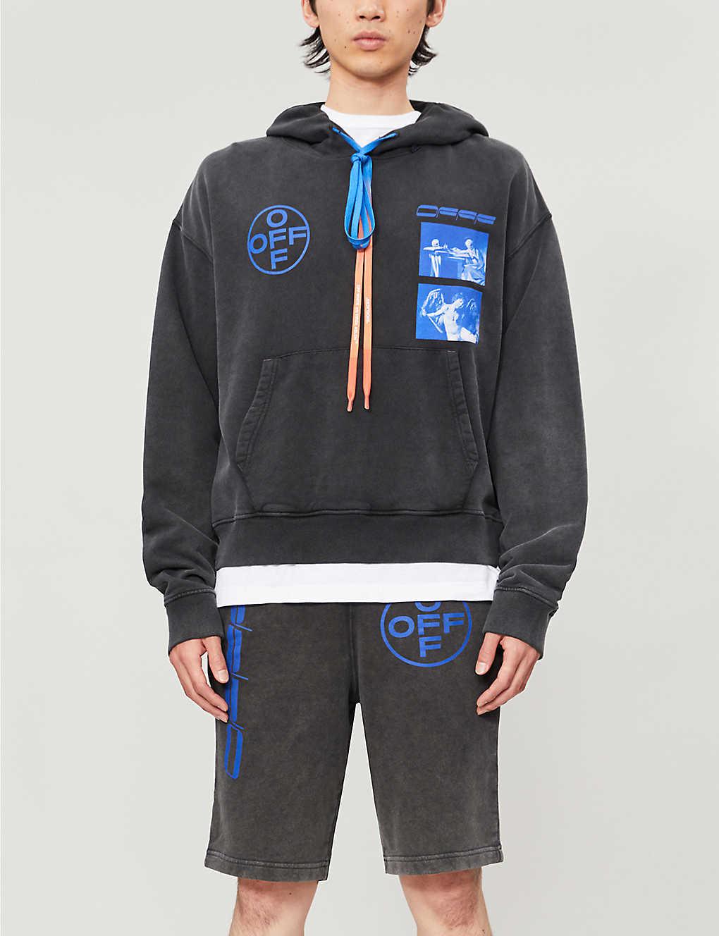 Graphic-print cotton-jersey hoody(8251386)