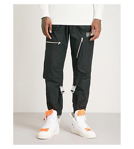 OFF-WHITE C/O VIRGIL ABLOH Art cotton jogging bottoms (Blk+multi