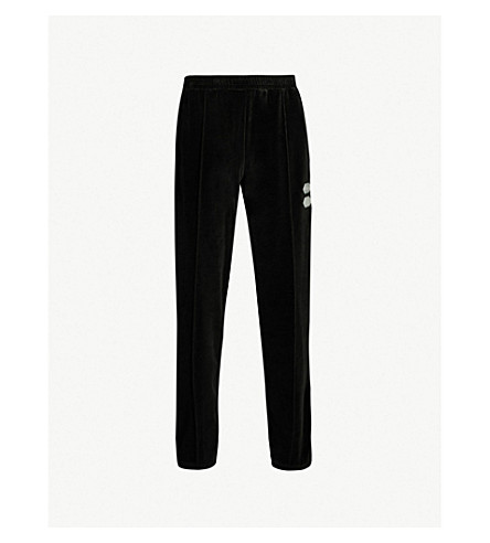 OFF-WHITE C/O VIRGIL ABLOH Side-stripe velour track pants (Black