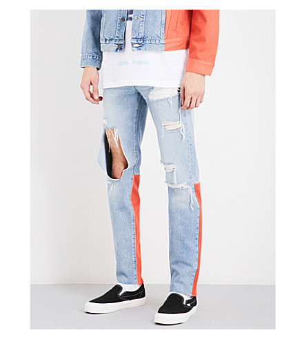 OFF-WHITE C/O VIRGIL ABLOH Off White c/o Virgil Abloh x Levi's Made & Crafted slim-fit skinny jeans (New+vintage