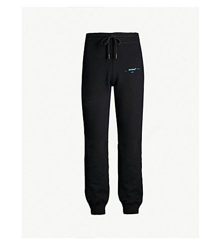 OFF-WHITE C/O VIRGIL ABLOH Logo-print cotton-jersey jogging bottoms (Black