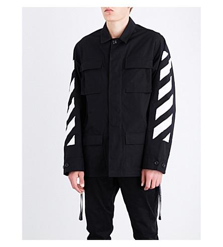 OFF-WHITE C/O VIRGIL ABLOH Arrows cotton field jacket (Cket+black+white