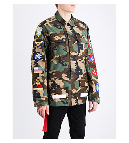 OFF-WHITE C/O VIRGIL ABLOH Camouflage cotton field jacket (All+over+white