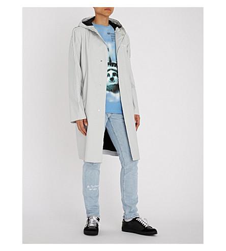 OFF-WHITE C/O VIRGIL ABLOH Logo-print shell raincoat Grey Cheap Price In UK VYzxO