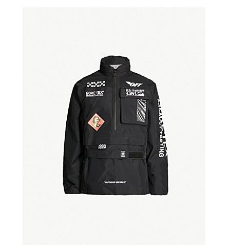 OFF-WHITE C/O VIRGIL ABLOH Half-zipper shell hooded jacket (Black