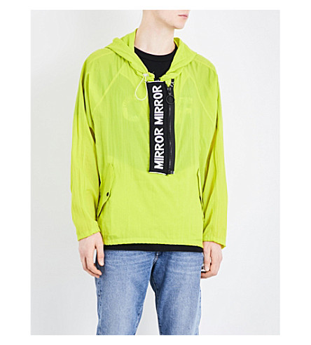 OFF-WHITE C/O VIRGIL ABLOH Shell anorak (Green+black