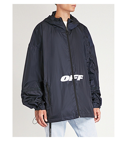 OFF-WHITE C/O VIRGIL ABLOH Oversized shell jacket Blue Buy Cheap Footaction Outlet Locations Cheapest Price Sale Online Outlet Affordable tbJGQf9HzE
