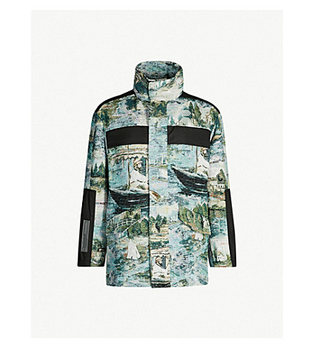 OFF-WHITE C/O VIRGIL ABLOH Lake-print brocade jacket (All+over+no+colour