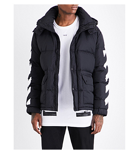 OFF-WHITE C/O VIRGIL ABLOH Brushed quilted puffer jacket (Black+white
