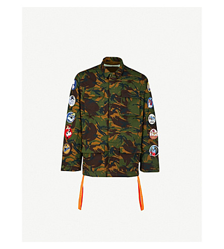 OFF-WHITE C/O VIRGIL ABLOH Diagonal Camouflage cotton-twill field jacket (Camou