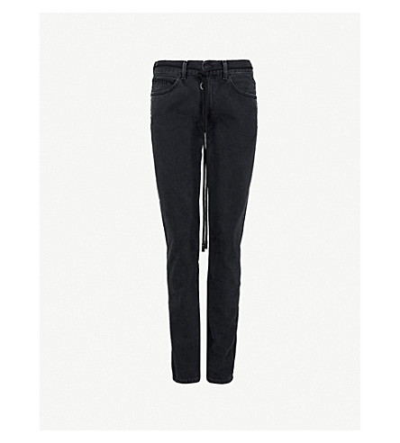 OFF-WHITE C/O VIRGIL ABLOH Gradient slim-fit tapered jeans (Black