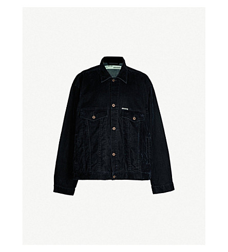 OFF-WHITE C/O VIRGIL ABLOH Oversized-fit velvet denim jacket (Blue