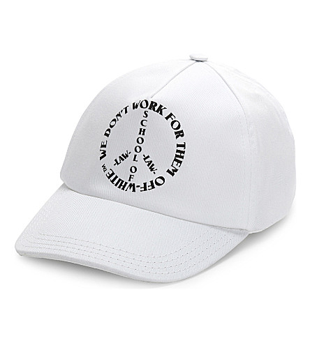 OFF-WHITE C/O VIRGIL ABLOH School of law cotton cap (White