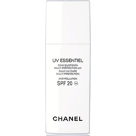 CHANEL UV ESSENTIEL Complete Sunscreen UV Protection Anti-Pollution Broad Spectrum SPF 20