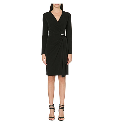 MICHAEL MICHAEL KORS Wrap-effect dress (Black