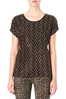 MICHAEL KORS Studded chevron t-shirt