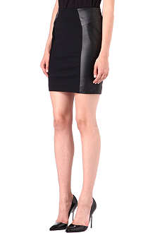 MICHAEL KORS Faux-leather panelled skirt