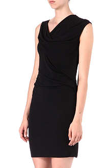 MICHAEL KORS Draped cowl-neck dress