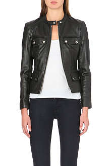 MICHAEL KORS Pocket-detail leather jacket
