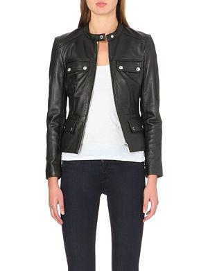 MICHAEL MICHAEL KORS Pocket-detail leather jacket