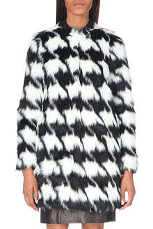 MICHAEL MICHAEL KORS Houndstooth faux-fur coat