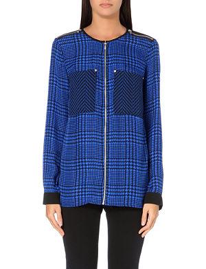 MICHAEL MICHAEL KORS Oversized silk zip shirt