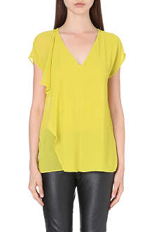 MICHAEL KORS V-neck ruffle crepe top