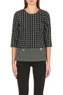 MICHAEL MICHAEL KORS Zip-detail geometric top