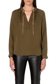 MICHAEL KORS Chain-detail silk blouse