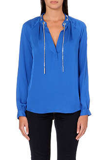 MICHAEL MICHAEL KORS Chain-detail silk blouse