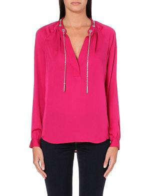 MICHAEL MICHAEL KORS Chain-detail silk blouse