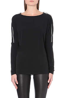 MICHAEL MICHAEL KORS Zip-detail jersey top