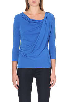 MICHAEL MICHAEL KORS Draped stretch-jersey top