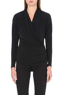 MICHAEL MICHAEL KORS Ruched wrap-around top