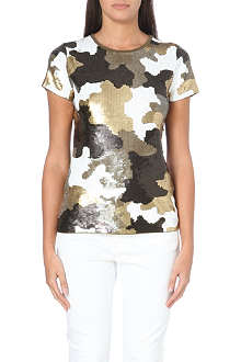 MICHAEL MICHAEL KORS Sequinned camouflage top