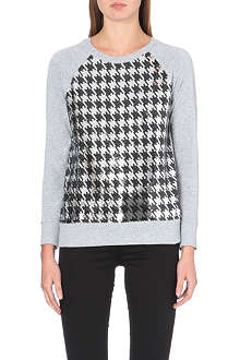 MICHAEL MICHAEL KORS Sequin-detail cotton-jersey sweatshirt