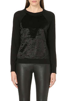 MICHAEL MICHAEL KORS Faux-fur panelled jumper
