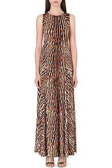 MICHAEL KORS Animal print studded maxi dress