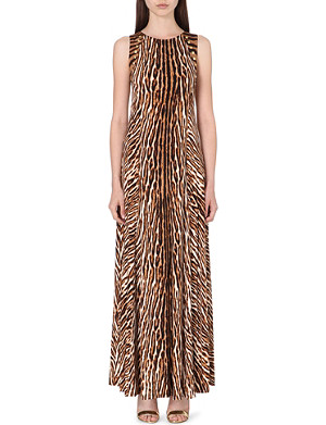 MICHAEL MICHAEL KORS Animal print studded maxi dress