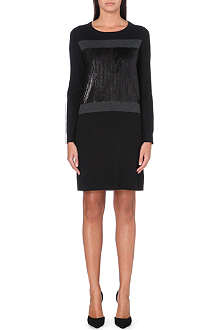 MICHAEL MICHAEL KORS Sequin-panel knitted dress