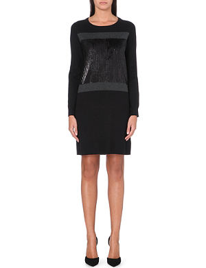 MICHAEL MICHAEL KORS Sequin-panel knitted dress