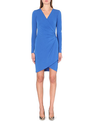 MICHAEL MICHAEL KORS Cascade ruched wrap dress
