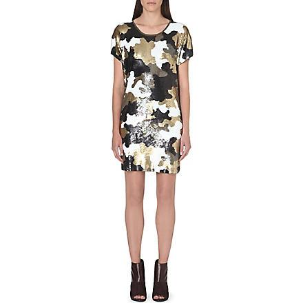 MICHAEL MICHAEL KORS Sequin-embellished dress (Gold
