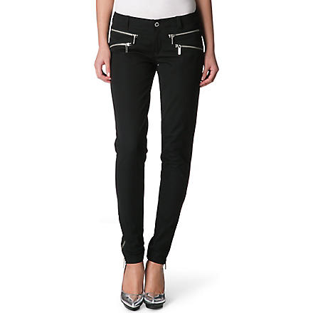 MICHAEL KORS Skinny zipped trousers (Black