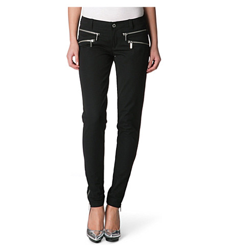MICHAEL MICHAEL KORS Skinny zipped trousers (Black