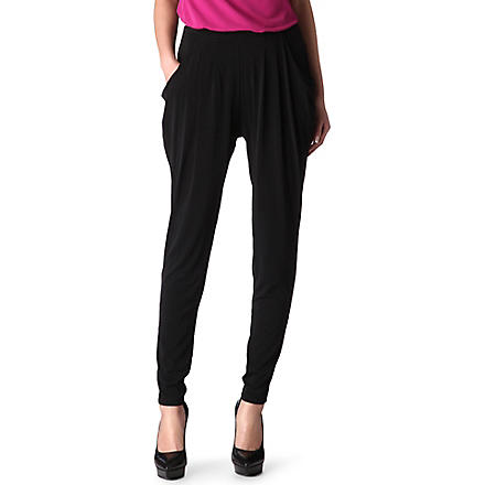 MICHAEL KORS Jersey harem trousers (Black