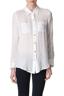 MICHAEL KORS Silk semi-sheer blouse