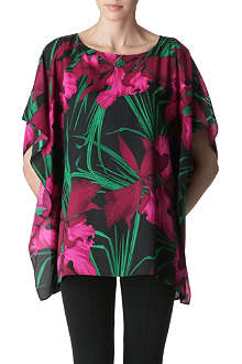 MICHAEL KORS Floral crepe tunic top